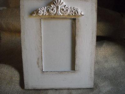 Cornice Portafoto bianca,fregio decorativo in gesso