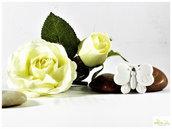 farfallina in gesso ceramico, bianco o colorabile su richiesta. minimo 5 pz