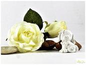 cagnolino in gesso ceramico, bianco o colorabile su richiesta.  minimo 5 pz