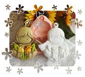 Stampo *Formella Angelo con fiori*