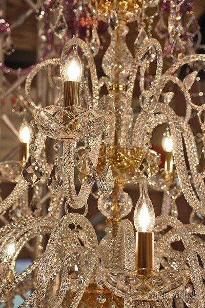 Braccio e tazza, ricambi per lampadari , in vetro soffiato di Murano