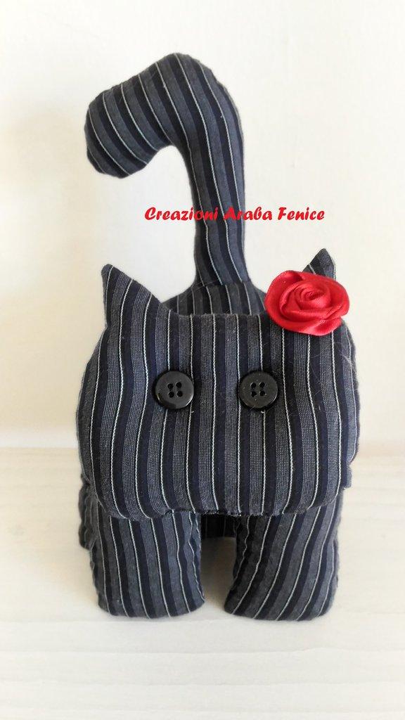 Gatto Fermaporta Gessato