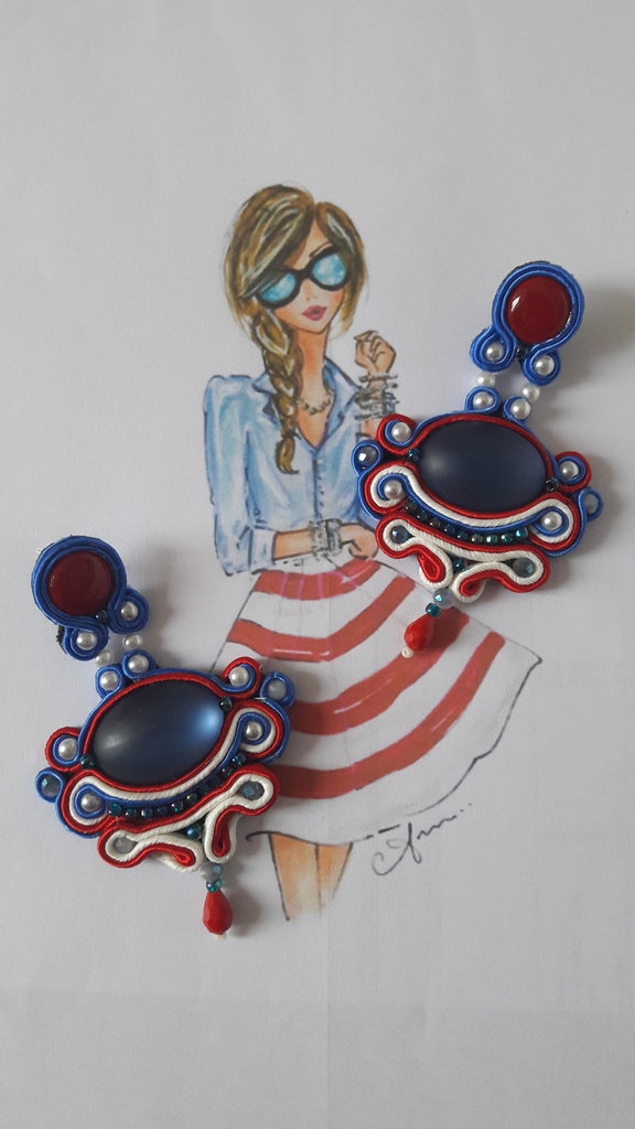 orecchini soutache sailor