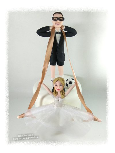 Cake topper yoga e calcetto