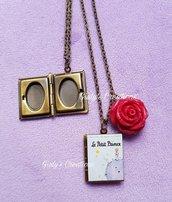 Collana portafoto IL PICCOLO PRINCIPE le petit prince book stelle galassia anime rosa