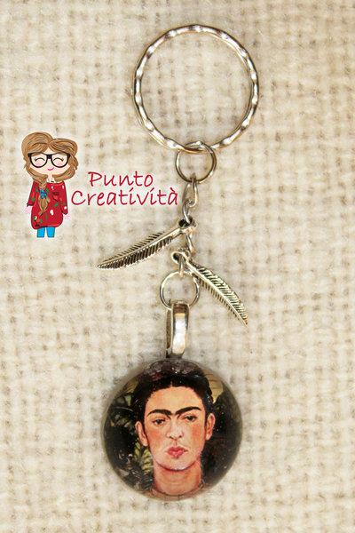 Portachiavi di Frida in resina