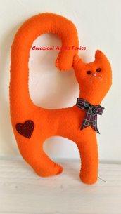 Gatto da Maniglia Arancione