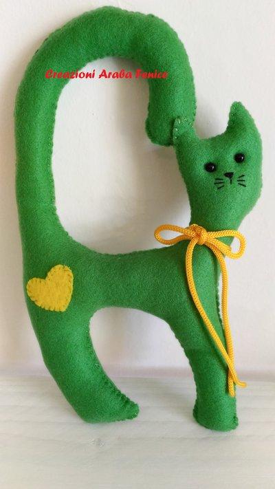 Gatto da Maniglia Verde