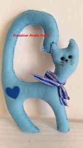 Gatto da Maniglia Celeste