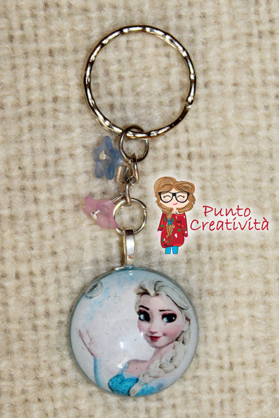 Portachiavi Elsa in resina