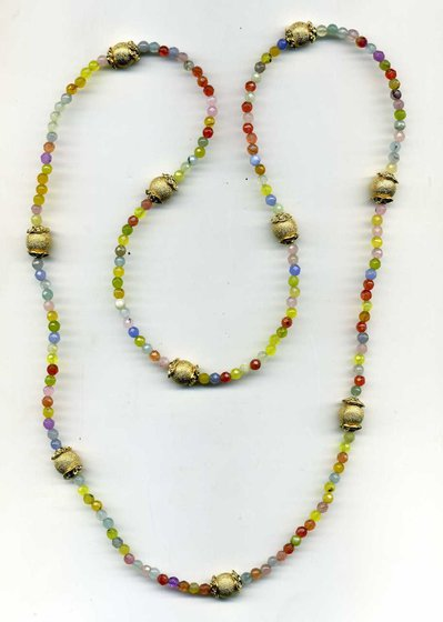 Collana multicolor pastello con sfere diamantate dore'