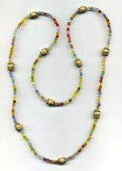 Collana multicolor pastello con sfere diamantate dore'