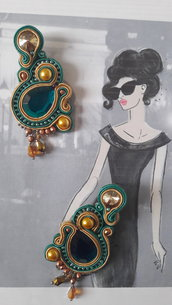 princess of Arabia orecchini soutache