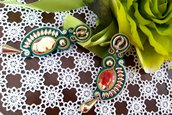 Golden weave orecchini soutache