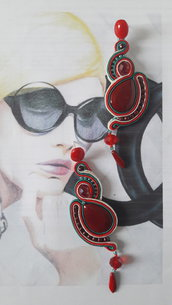 sunset orecchini soutache
