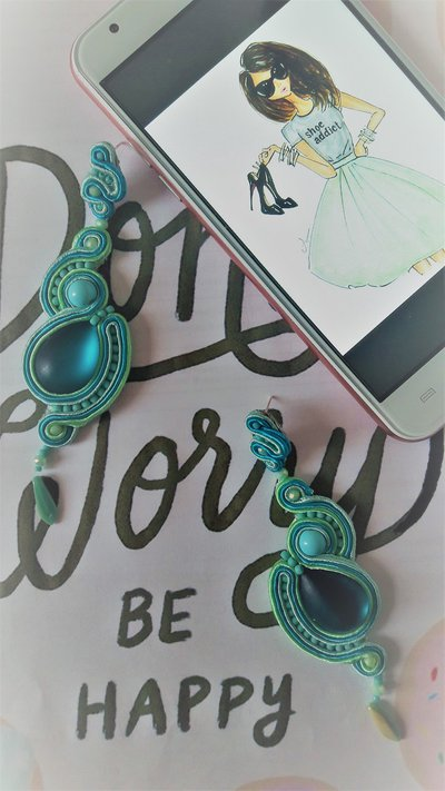 Color explosion orecchini soutache