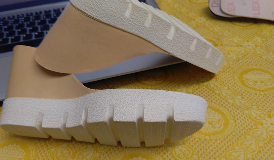 suola  bicolore per sandali e zeppe n 38  cm 24 ,5 tacco 10