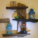 Mensole portaoggetti realizzate con legno di riciclo