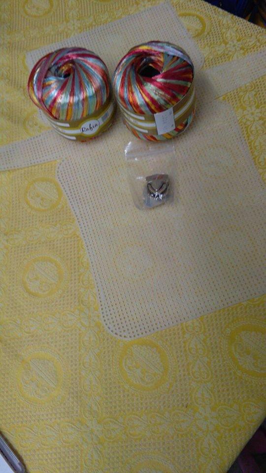 kit per borsa con rafia