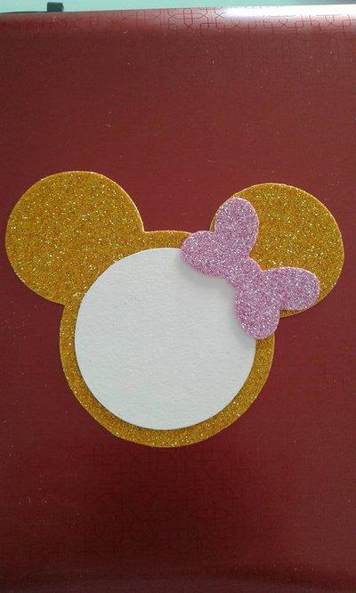 Invito Minnie glitter