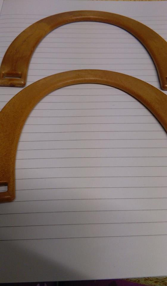 manici mezzaluna  finto legno medio