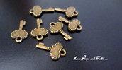 """Charm ciondolo  chiave """"Cuoricino"""" (17x10mm) (cod.0new)"""