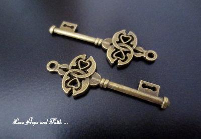 """Charm ciondolo  chiave """"Celtica"""" (45x17mm) (cod.0new)"""