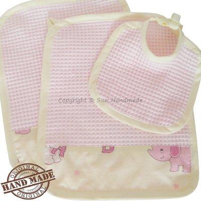 Coppia lavette neonato con bavaglio in coordinato