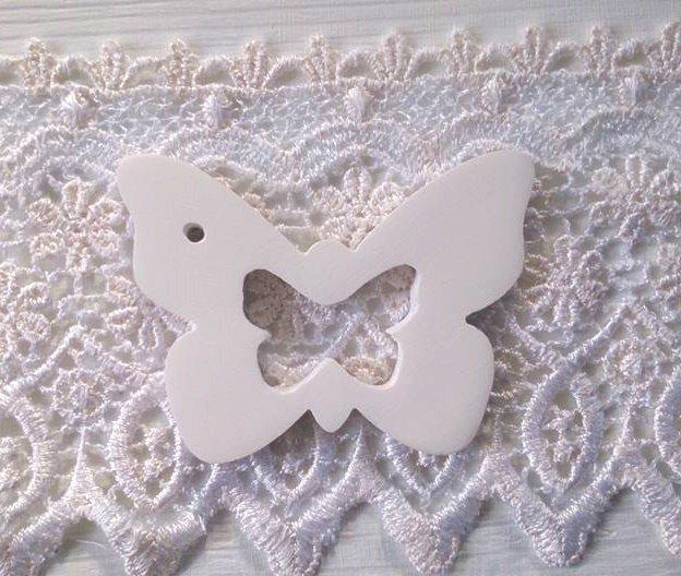 farfalla gesso segnaposto bomboniera