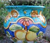 Cachepot in Ceramica decorato a mano