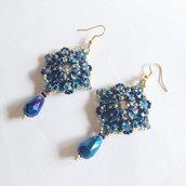 Orecchini Baroque blu e oro