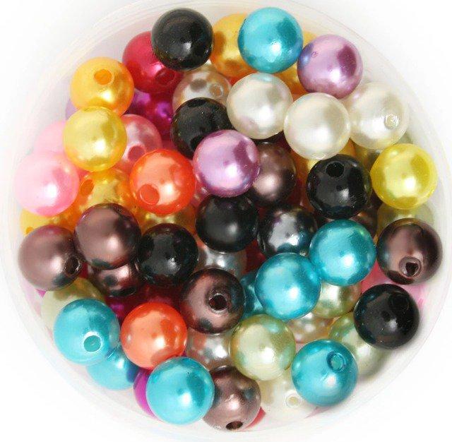 25 perle in resina cerata 8 mm