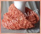 scaldacollo in cotone - Rosa salmone