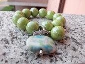 Bracciale verde mela