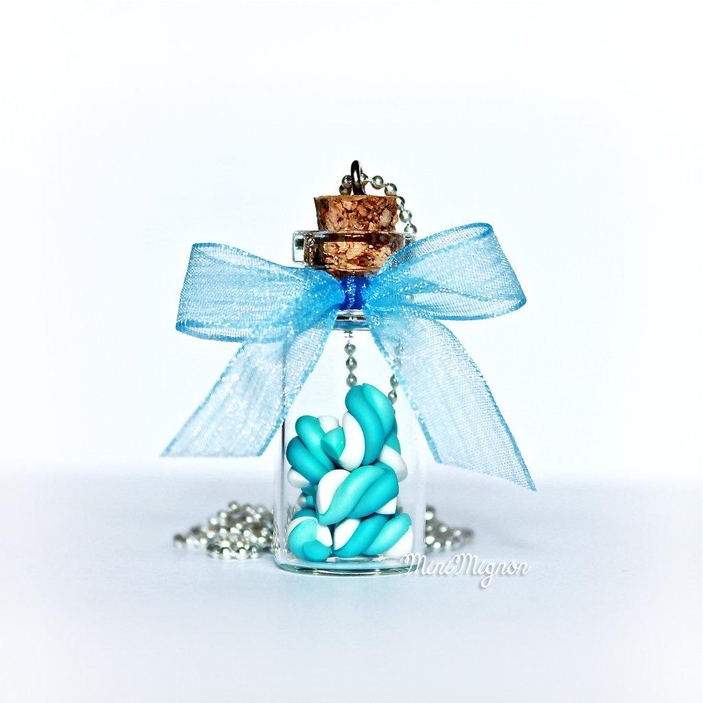 """Collana lunga con """"Bottiglietta Marshmallow"""""""