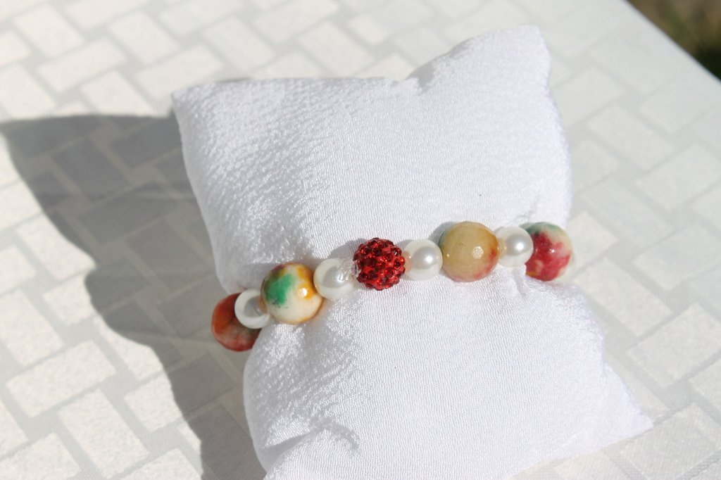 Bracciale perle e diaspro