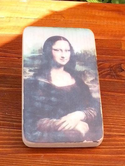 Monnalisa su tavoletta in legno