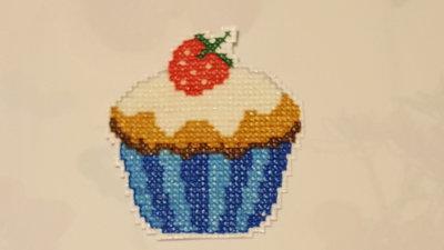 Calamita a forma di cupcake azzurra