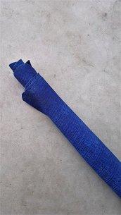 Pack di 2 pelli bluette stampate tono su tono semi-lucide A339