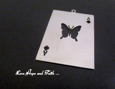 "Charm ciondolo ""Butterfly"" (48x34mm) (cod.new)"