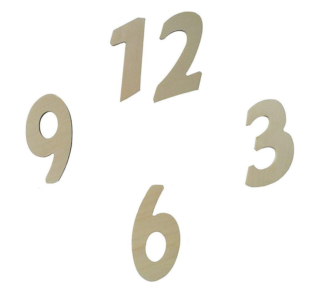 Numeri base in legno per orologi e il fai da te