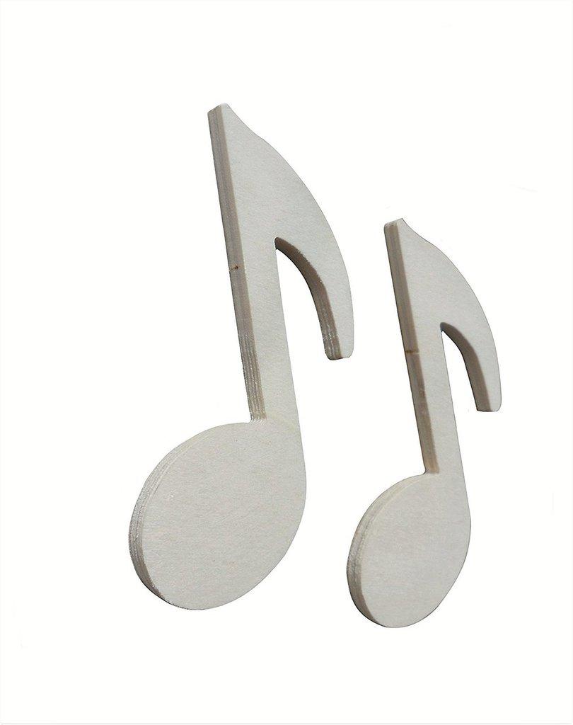 Nota musicale in legno  10 x 6 cm Sei pezzi