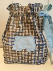 Sacca porta biancheria intimo/costumi UOMO/BIMBO