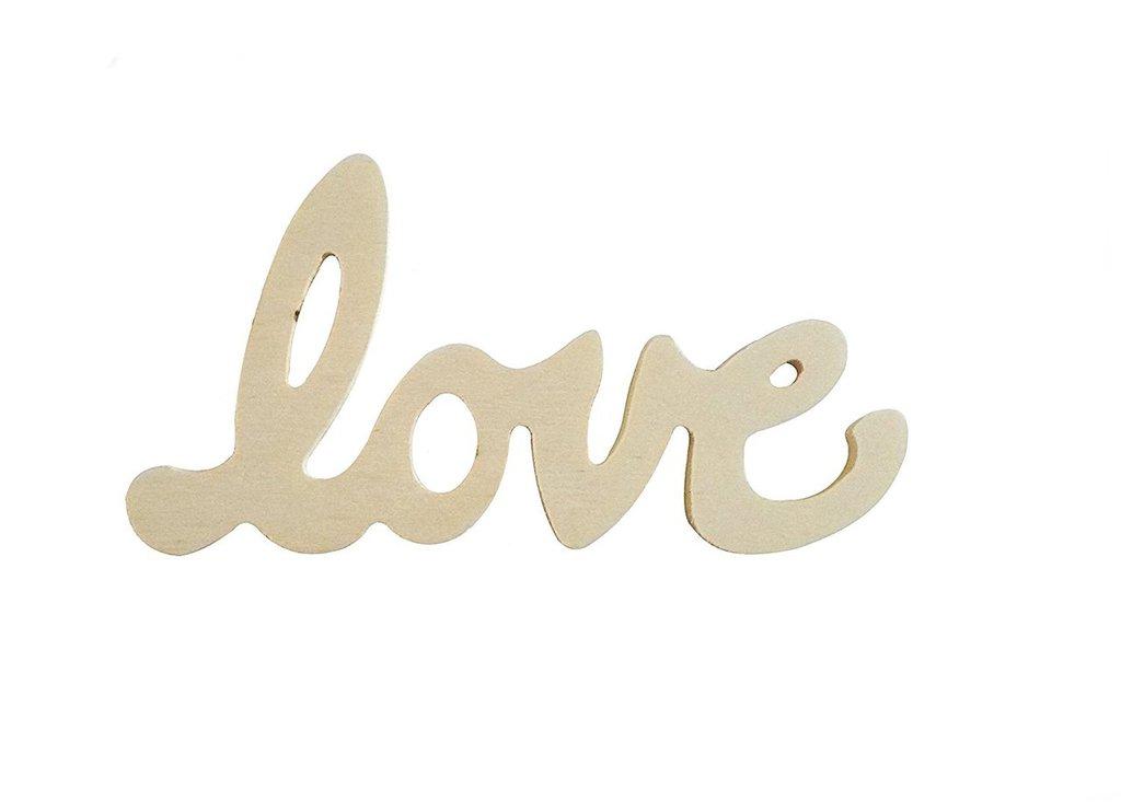 Scritta in legno LOVE di piccole dimensione 10 pezzi