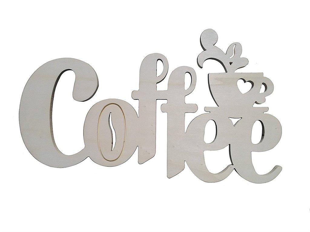 Scritta in legno Coffee