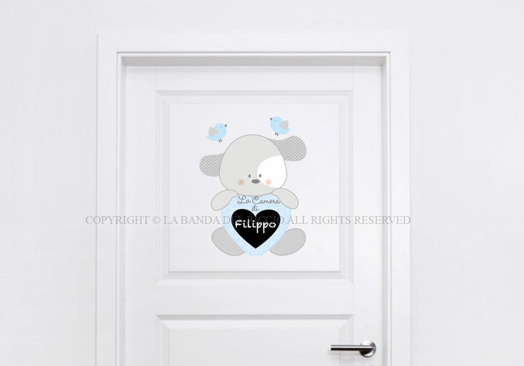 Cagnolino love adesivo per porta