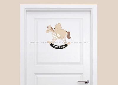 Cavallino a dondolo adesivo porta