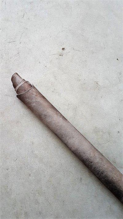 Pelle tamponata a mano con effetto vintage H348