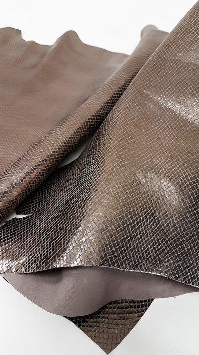 Pack di 2 pelli laminate effetto matt stampa serpente A349
