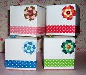 """Scatolette """"Flowers Cubes"""" per Bomboniere e Porta Confetti - Collezione Pois^^"""